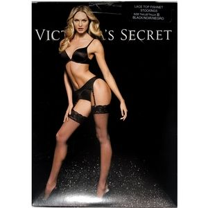 Victoria's Secret Lace Fishnet Stockings Lingerie